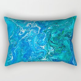 Elegant Crazy Lace Agate 2 - Blue Aqua Rectangular Pillow