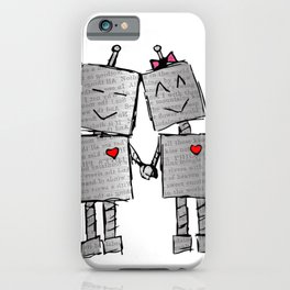 Lovebots Doodle iPhone Case