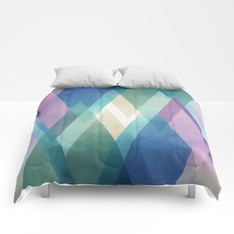 Abstract diamond crystals Comforters