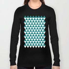 Triangles (Teal/White) Long Sleeve T-shirt