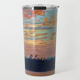Tom Thomson - Sunset Sky - Canada, Canadian Oil Painting - Group of Seven Travel Mug