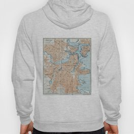 Vintage Map of Boston MA (1906) Hoody