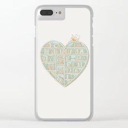 I Heart Books Clear iPhone Case