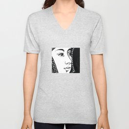 Queen Anne Boleyn Portrait  Unisex V-Neck