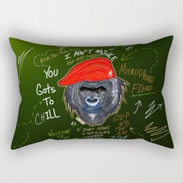 Hip Hop  Gorilla Soldier Rectangular Pillow