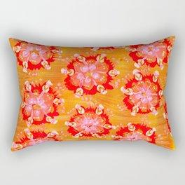 Apricot Calliope Rose Rectangular Pillow