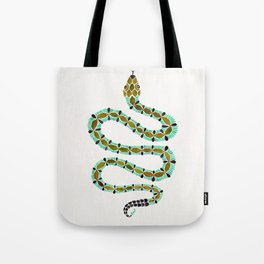 Turquoise Serpent Tote Bag