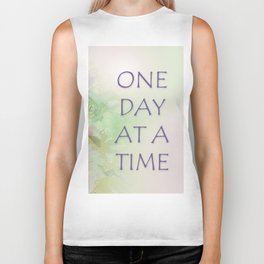 One Day at a Time Spring Flowers Biker Tank
