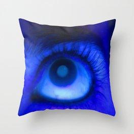 Blacklight Eye Throw Pillow