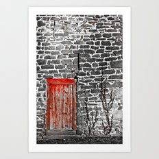 Enter The Red Door Art Print