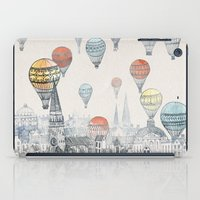 black cat iPad Cases featuring Voyages over Edinburgh by David Fleck