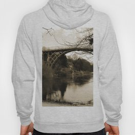 Worlds First Ironbridge over River Severn in England in sepia Hoody