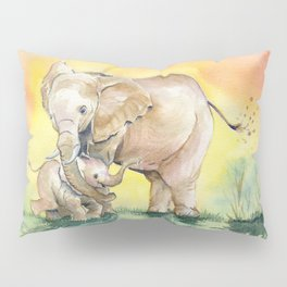 Colorful Mother's Love - Elephant Pillow Sham