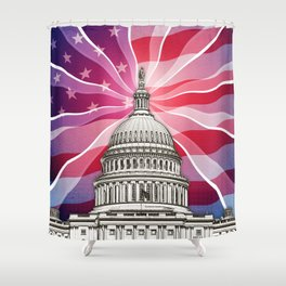The World of Politics Shower Curtain
