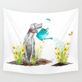 DAFFODILS AND WEIM Wall Tapestry