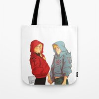 johannathemad Tote Bags featuring hoodies by JohannaTheMad