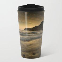 Sunset at Caswell Bay Travel Mug