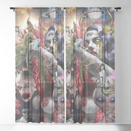 Cosmic Witchcraft Sheer Curtain