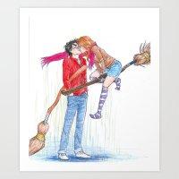 burdge Art Prints featuring Lift Me Up by Burdge