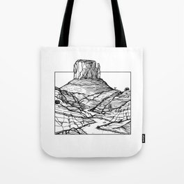 Monument Valley Hand Drawing Tote Bag