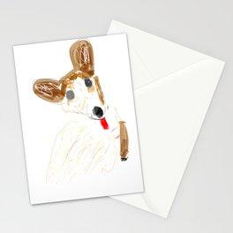 Little corgi sketch Stationery Cards