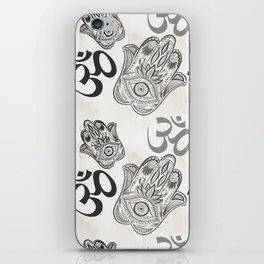 Hamsa Yoga Pattern iPhone Skin