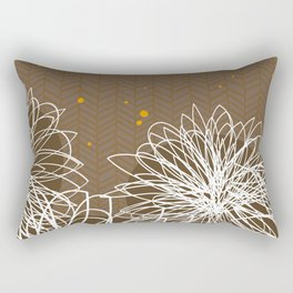 Brown Doodle Floral by Friztin Rectangular Pillow