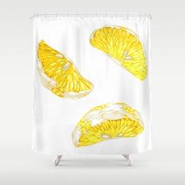 Lemon Slices Graphic Design Shower Curtain