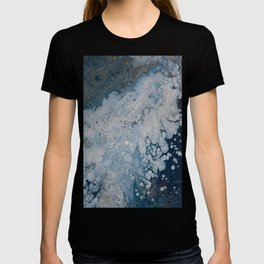Frozen Waters Acrylic Pour Vector T-shirt