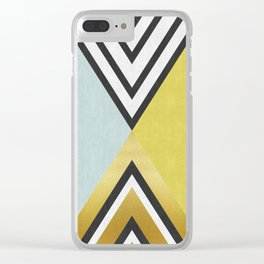 Art with gold I Clear iPhone Case