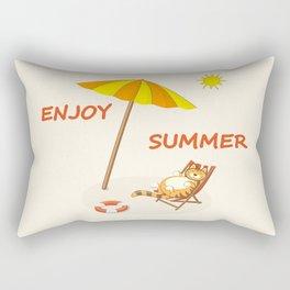 enjoy sunny summer Rectangular Pillow
