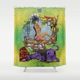 Bloom: An Awakening - Ode to Wildflowers (Nightblood) Shower Curtain