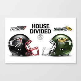 Falcons / Rats House Divided Canvas Print