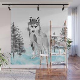 Husky Wall Mural