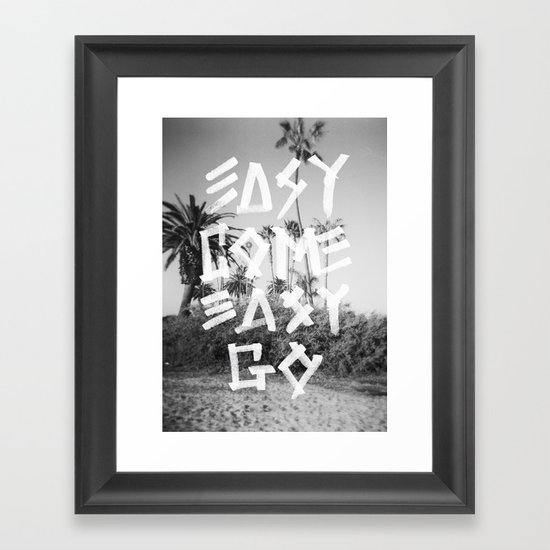 EASY GO Framed Art Print