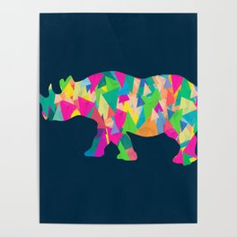 Abstract Rhino Poster