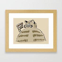 Fat Cat Wants Treats Framed Art Print