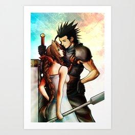 Zack and Aerith Art Print