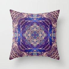 Labradorite Mandala Throw Pillow