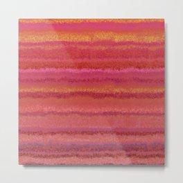 Fuzzy Sunset Stripes Metal Print