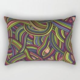seamless pattern of tangled smooth strips Rectangular Pillow