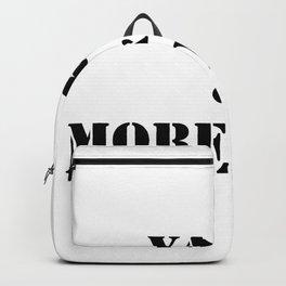 Yarn & More Yarn in Black Backpack