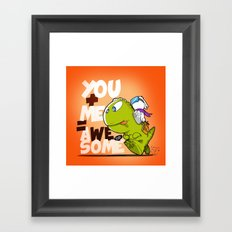 You+Me=AWeSome Framed Art Print