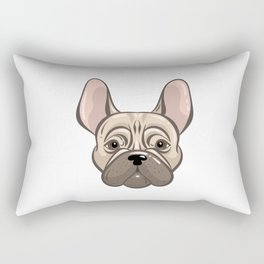 Cute french bulldog muzzle Rectangular Pillow