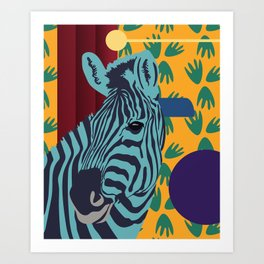 Zebra feeling - Jungle Decor Kids Art Print