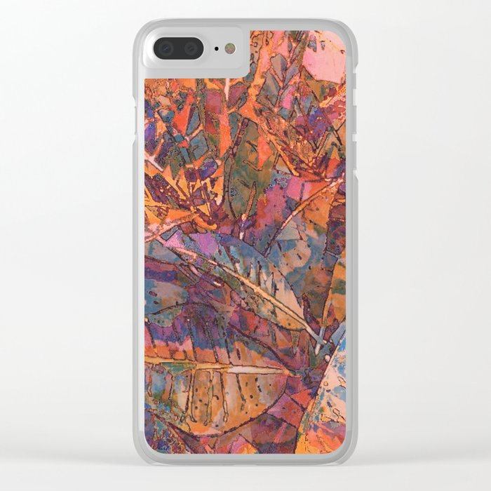 Tropical Greens Twilight Clear iPhone Case