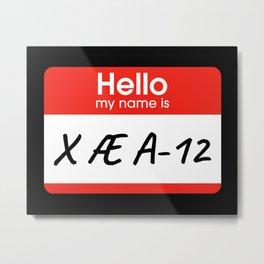 X Æ A-12 / X AE A-12 II Metal Print