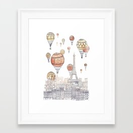 Voyages Over Paris ~ Refresh Framed Art Print