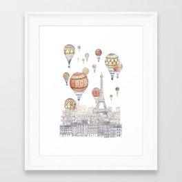 Voyages Over Paris ~ Refresh Framed Art Print
