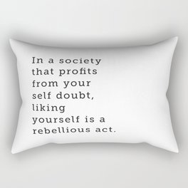 Liking Yourself Rectangular Pillow